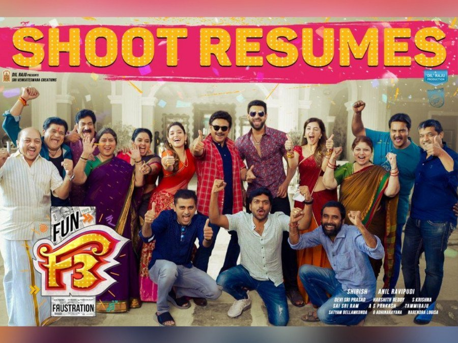 f3-shooting-resumes-in-hyderabad-image